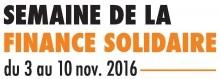 Logo Semaine de la Finance Solidaire 2016