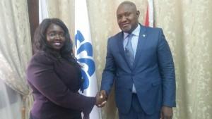 Chanda lors de sa rencontre avec le Ministre de la Santé de Guinée-Bissau